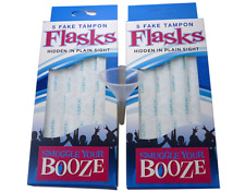 Smuggle Your Booze 2  5-pack Tampon Flasks & Funnel Bundle