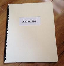 Pachinko Machine Directions / Instructions / Spiral Bound Manual