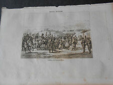 1836 ANCIENT STEEL ENGRAVING GREEK INDEPENDENCE WAR - SURRENDER of MOREE