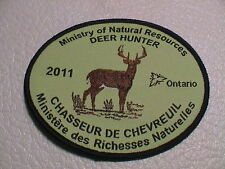 2011 ONTARIO CANADA MINISTRY NATURAL RESOURCES SUCCESSFUL DEER HUNTER GUN PATCH