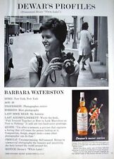 Vintage 1969 Dewar's WHITE LABEL Whisky Barbara Waterson Advert - Photo Print AD