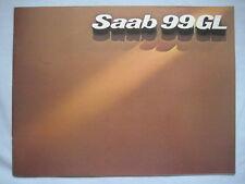 1976 SAAB 99GL Brochure Pub.No. 204412