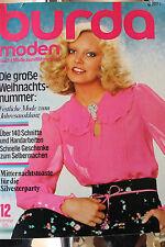 70er Jahre BURDA MODEN Heft 12 Dezember 1975 große Ausgabe Mode Nähen Kleider