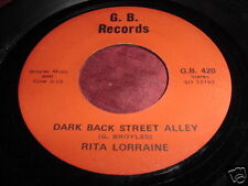 RITA LORRAINE - DARK BACK STREET ALLEY  RARE COUNTRY 45