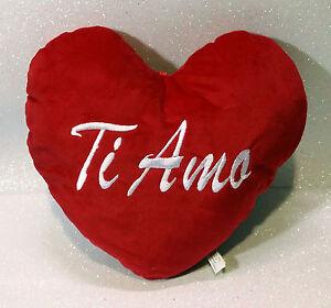 SAN VALENTINO AMORE CUORE IN PELUCHE TI AMO PLUSH HEART 60 CM