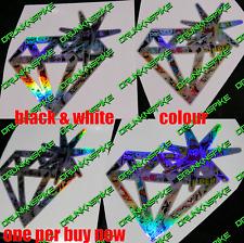 Bomba de diamante Coche Furgoneta Etiqueta Engomada de la etiqueta engomada 1x Marea Negra Cromo Plateado Jdm Dub Euro