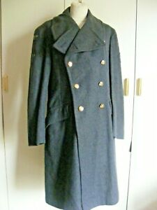"""Vintage 1950 military RAF Royal Airforce Great Coat Other Airman Small chest 36"""""""