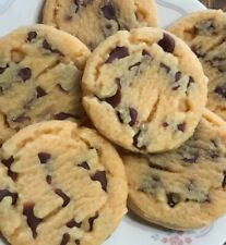 6 large wax chocolate chip cookies,embeds,tart burner Free Shipping