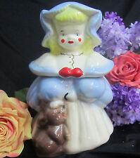 VINTAGE art pottery McCoy SIGNED cookie jar GOLDILOCKS with BEAR