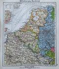 Europa Mitteleuropa Nordwest  - alte Karte Landkarte aus 1922 old map
