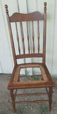 ANTIQUE HIGH BACK CHAIR  solid wood