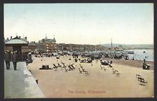 Dorset. Weymouth. The Sands. Bathing Machines & Chairs on the Beach. Postcard