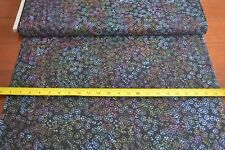 By 1/2 Yd, Multi-Color on Black Batik Cotton, Indonesia, Hoffman/G-2186-85, B587