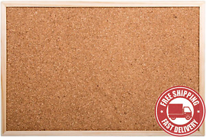DESK  TECH  Small  Cork  Bulletin  Board  with  Wooden  Frame ,  12  X  18  Inch