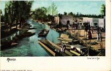 MEXICO, CANAL DE LA VIGA, Vintage Postcard