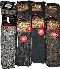 Mens 3 Pairs Warm  Long Boot Lambs Wool Blend Socks Extra thick winter sock 6-11