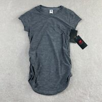New Balance NB Dry Shirt Top Womens S Running Activewear Gray Short Sleeve NEW