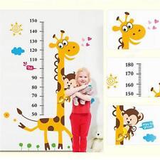 Children Giraffe Height Growth Chart Measure Wall Sticker Kids Room Decor RF