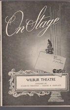 The Miracle Worker On Stage Program Boston Eileen Brennan 1961 Helen Keller