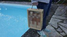 Ensemble boules de pétanque carrées de luxe