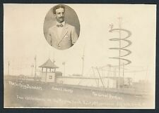 1911 CIRCUS ATTRACTIONS Saskatchewan Vintage Large Photo DEATH SPIRAL etc.