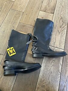 1970's New old Stock Goldtop  High Leg Motorcycle Boots UK Size 6 Rockers