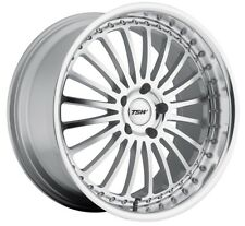 17x8 TSW Silverstone 5x108 +40 Silver Rims Fits Ford Focus 2012-2016