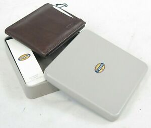 Fossil Genuine Leather 2 in 1 Sliding wallet New Boxed folding