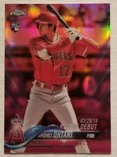 2018 Topps Chrome Update Shohei Ohtani HMT32 Pink Refractor Rookie - Free Ship