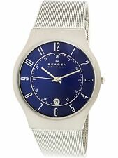 Skagen Men's Classic 233XLTTN Blue Titanium Quartz Dress Watch