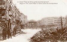 Belgium La Grand Place de Namur apres le Bombardement WW1 01.41