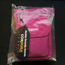 SUPREME SHOULDER BAG MAGENTA FW19 CORDURA CAMO BLACK TEAL REAL TREE BOX LOGO CDG
