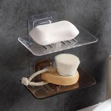 1 Layer Suction Soap Dish Holder Draining Holder Soap Dish Accessories Organizer
