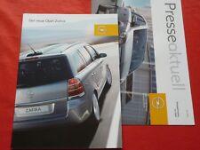 Opel Zafira B Base Edition sport Cosmo folleto de 2005