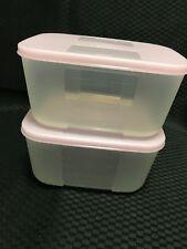 Tupperware Freezer Mates Medium #2 650ml - Pink Set of 2 - BRAND NEW