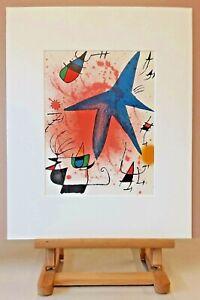 Joan MIRO (1893-1983) Original Lithographie 1972 - #857 - Der blaue Stern