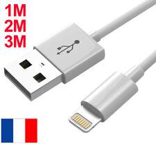 CABLE USB RENFORCE CHARGEUR RECHARGE SYNC POUR IPHONE 6 6S 7 PLUS 8 X XR 11 IPAD