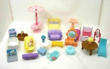 Lot/25 Playset Furniture and Accessories for Pretend Play Dollhouse