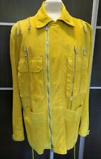 Auth. Vintage Gianni Versace Couture Runway Jacket Leather Suede Size 50 (L)