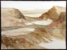 "James Conaway ""Desert Landscape #5"" Signed Original Mixed Media Art, Make Offer"