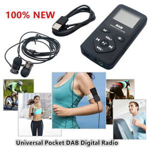 Pocket DAB/DAB+/FM Radio Receiver Player Earphone LCD Display Screen Rechargeabl