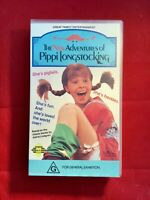 The New Adventures Of Pippi Long Stocking VHS Original Retro Collectable PAL