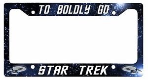 L@@K! Star Trek  - To Boldly Go - Enterprise License Plate Frame