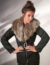 NEW LIPSY LOVE Michelle Keegan Faux Fur Shawl Lined Winter Coat Size 12 RRP £85