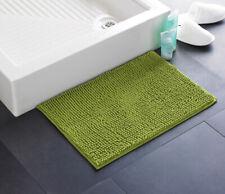 Country Club Chenille Bath Mat, Green Soft Floor Mat Coloured Home Accessories