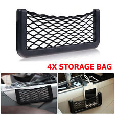 4x Car Auto Back Rear Trunk Seat Tidy Elastic Net Mesh Organizer Storage Bag New
