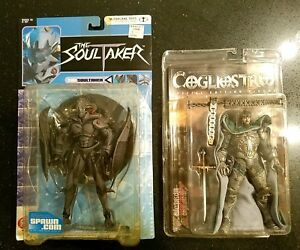 1998 2001 Mcfarlane Toys The Soultaker & Cogliostro Action Figures NIB 2pc Lot