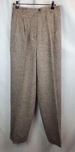 Evan Picone Brown Professional Career Tweed Pant Suit Lined Size 6P