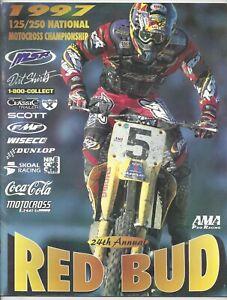 Vintage Red Bud Michigan Nationals 1997 AMA Motocross Program Mike LaRocco