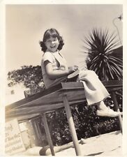 JANE WITHERS Child Star Original CANDID Ping Pong Vintage 1935 Fox Studio Photo